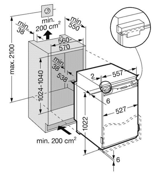 купить Встраиваемый однокамерный холодильник Liebherr IKP 2060 Украина фото 2