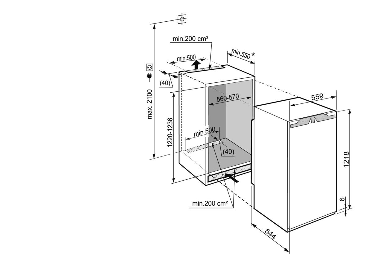 купить Встраиваемый однокамерный холодильник Liebherr IKP 2324 Украина фото 1