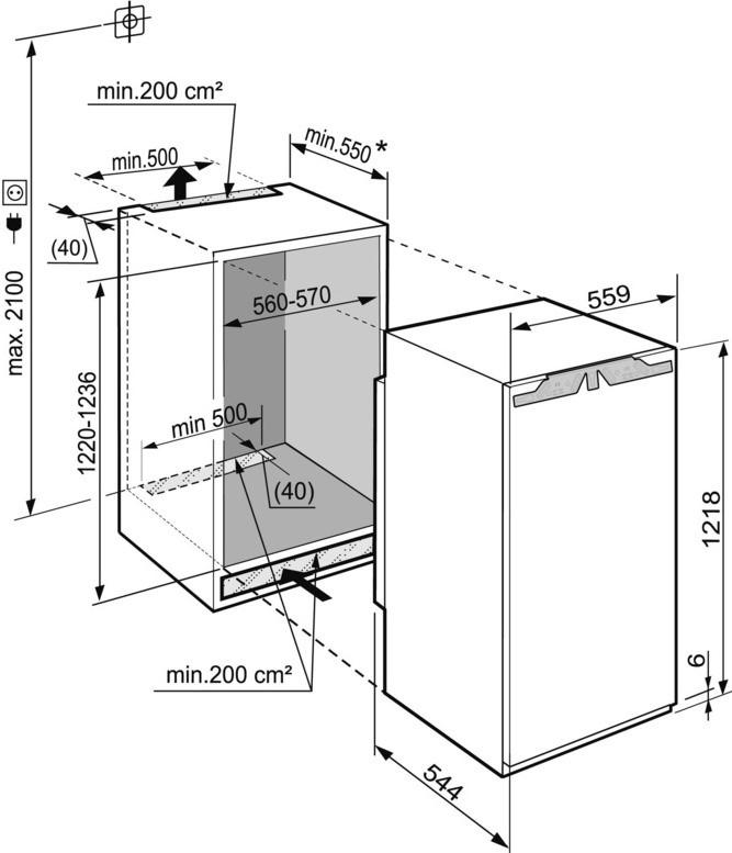 купить Встраиваемый однокамерный холодильник Liebherr IKP 2350 Украина фото 2