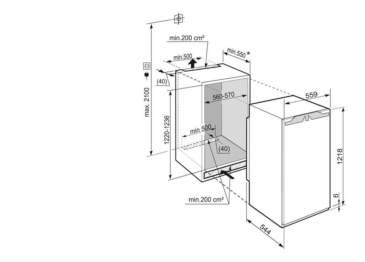 купить Встраиваемый однокамерный холодильник Liebherr IKP 2360 Украина фото 6