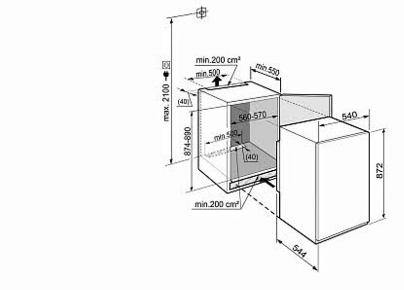 купить Встраиваемый однокамерный холодильник Liebherr IKS 1610 Украина фото 1