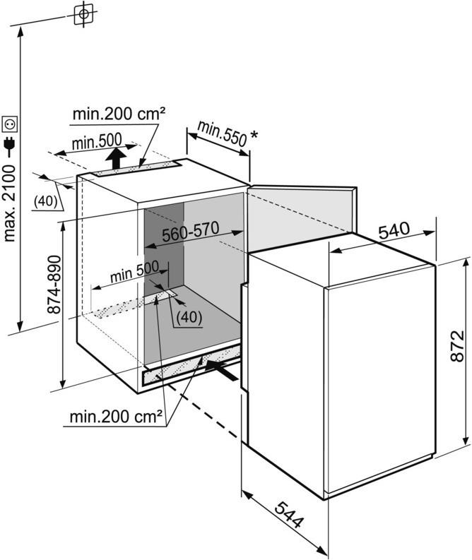купить Встраиваемый однокамерный холодильник Liebherr IKS 1614 Украина фото 1