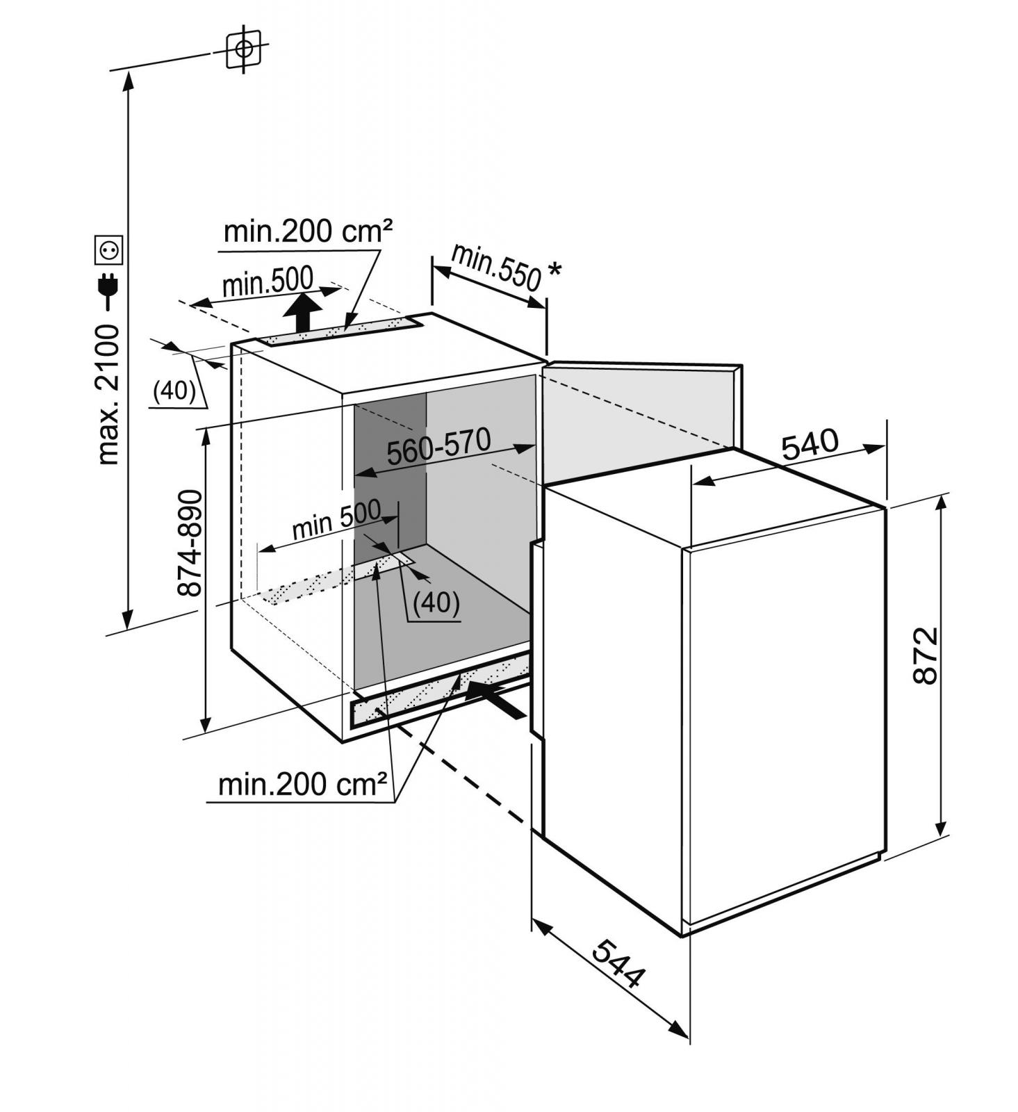купить Встраиваемый однокамерный холодильник Liebherr IKS 1624 Украина фото 4