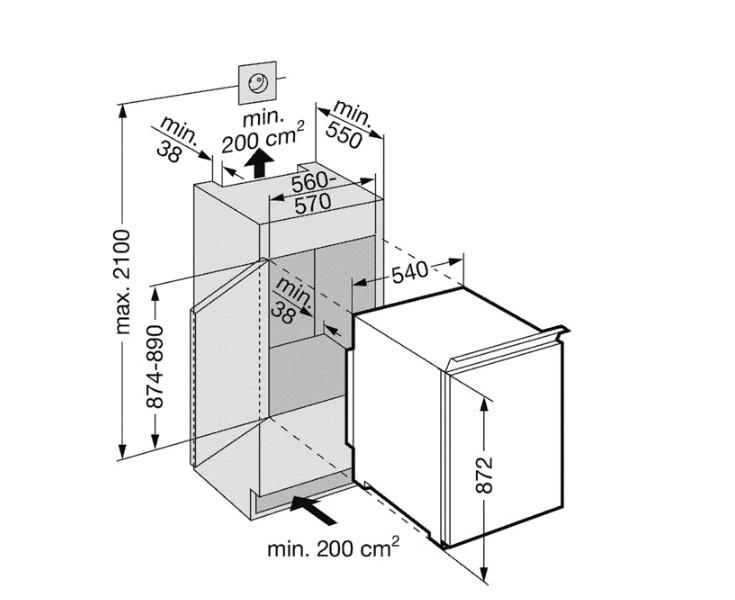 купить Встраиваемый однокамерный холодильник Liebherr IKS 1750 Украина фото 1