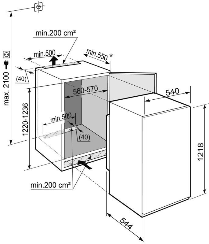 купить Встраиваемый однокамерный холодильник Liebherr IKS 2310 Украина фото 3