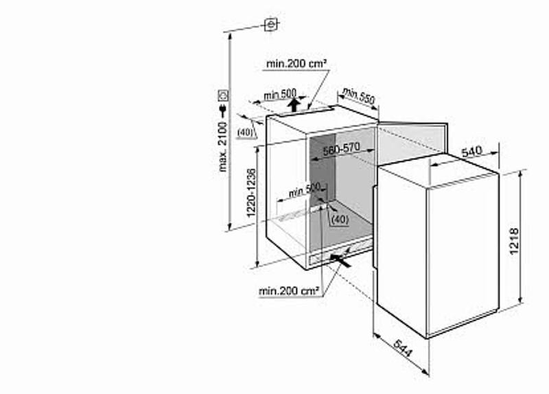 купить Встраиваемый однокамерный холодильник Liebherr IKS 2314 Украина фото 1