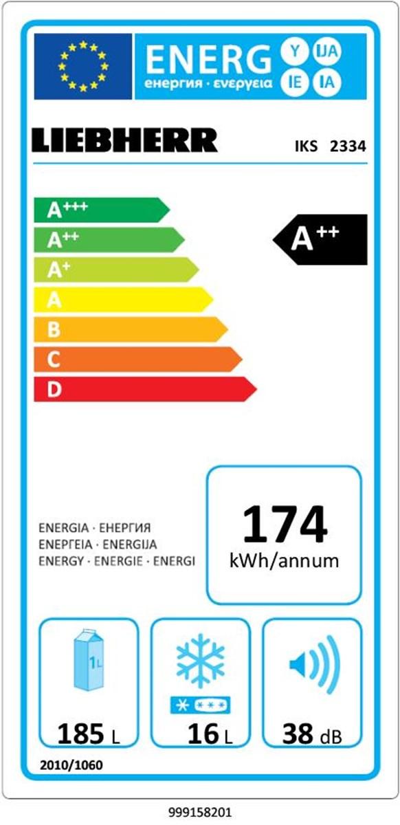 купить Встраиваемый однокамерный холодильник Liebherr IKS 2334 Украина фото 1