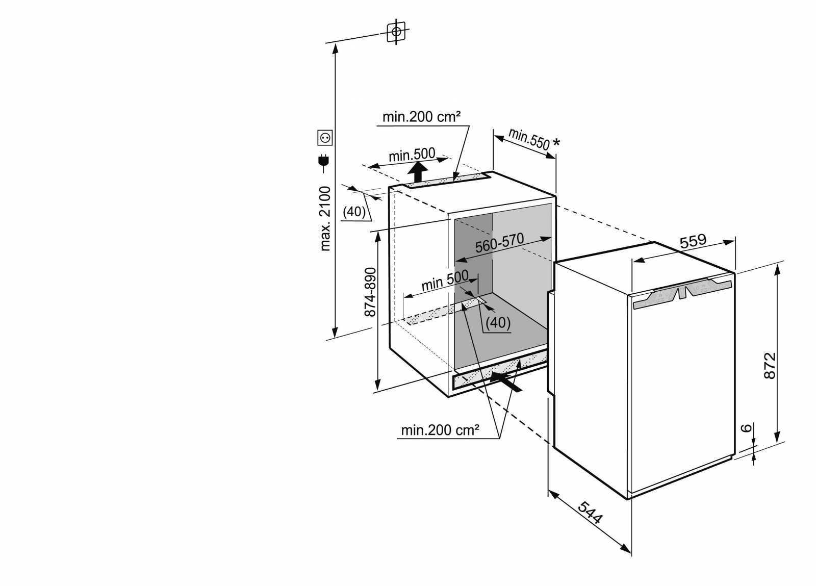 купить Встраиваемый однокамерный холодильник Liebherr IK 1620 Украина фото 2