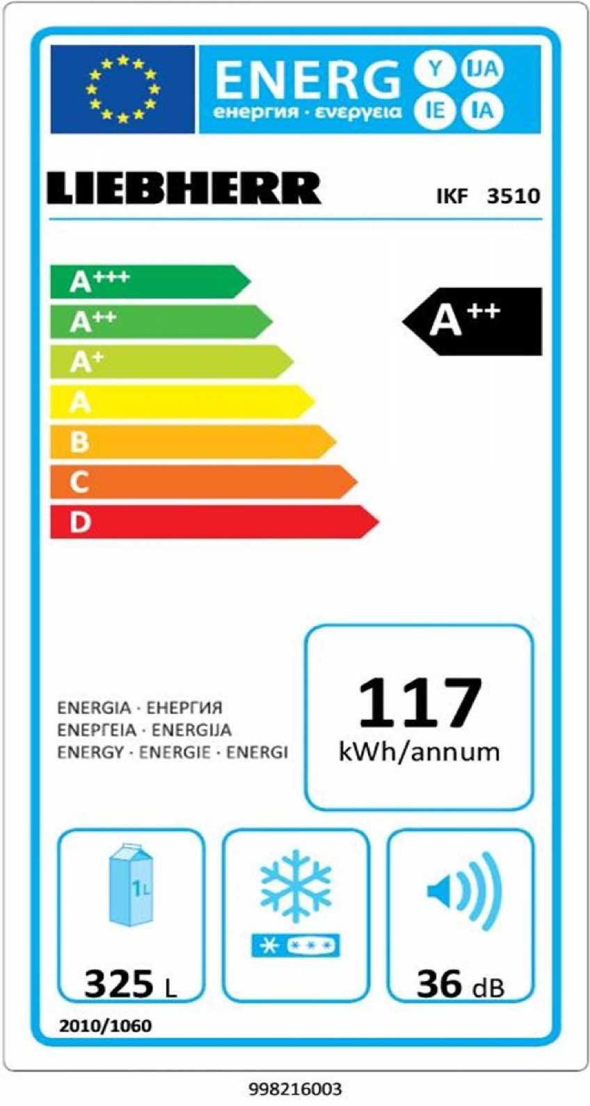 купить Встраиваемый однокамерный холодильник Liebherr IKF 3510 Украина фото 2