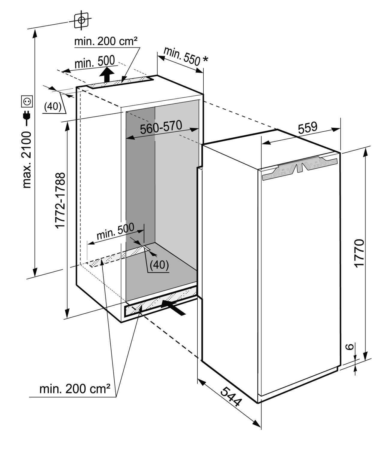 купить Встраиваемый однокамерный холодильник Liebherr IKF 3514 Украина фото 6