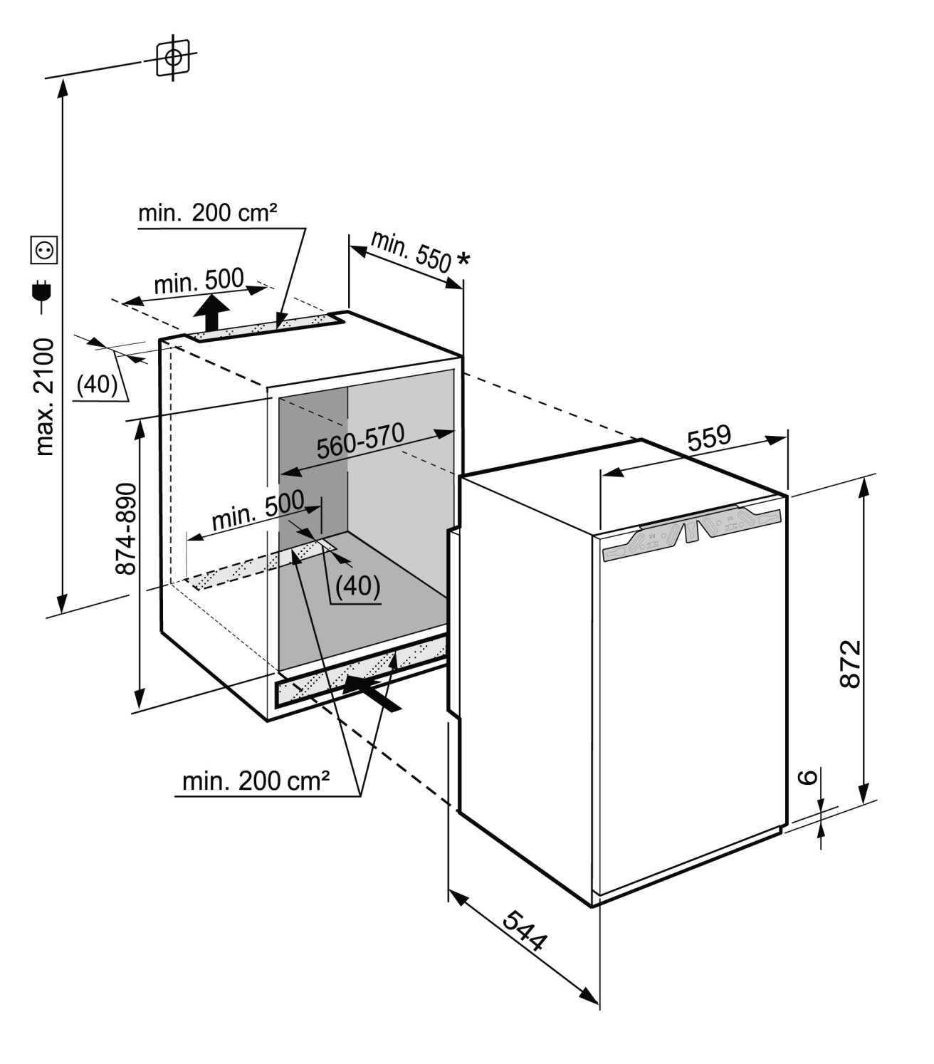 купить Встраиваемый однокамерный холодильник Liebherr SIBP 1650 Украина фото 9